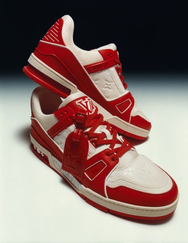 LV red sneaker