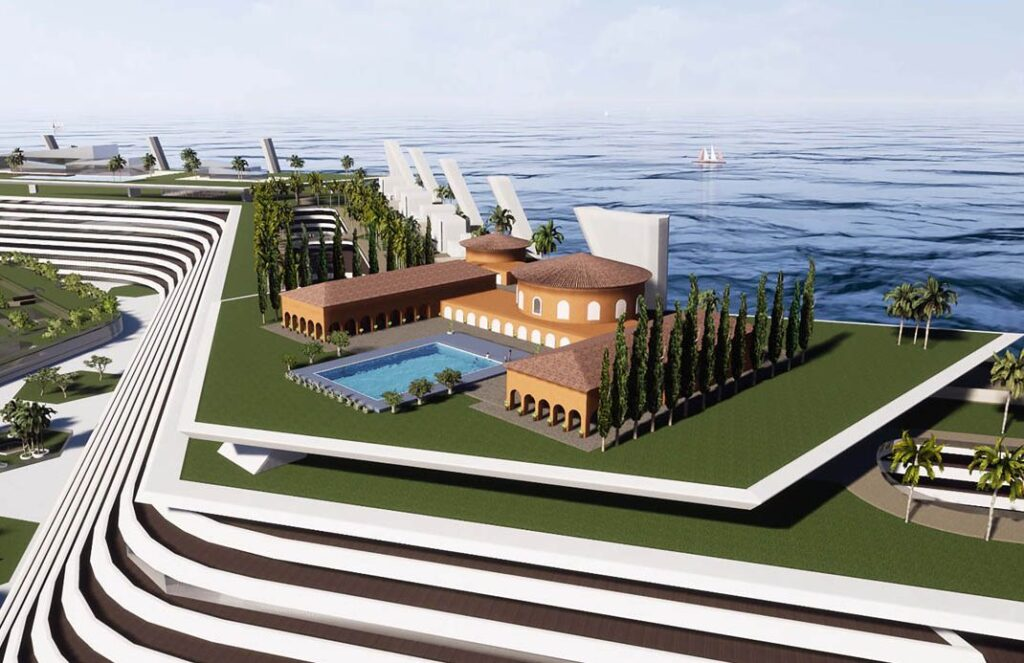 Il progetto di una delle mega ville da un miliardo di euro
