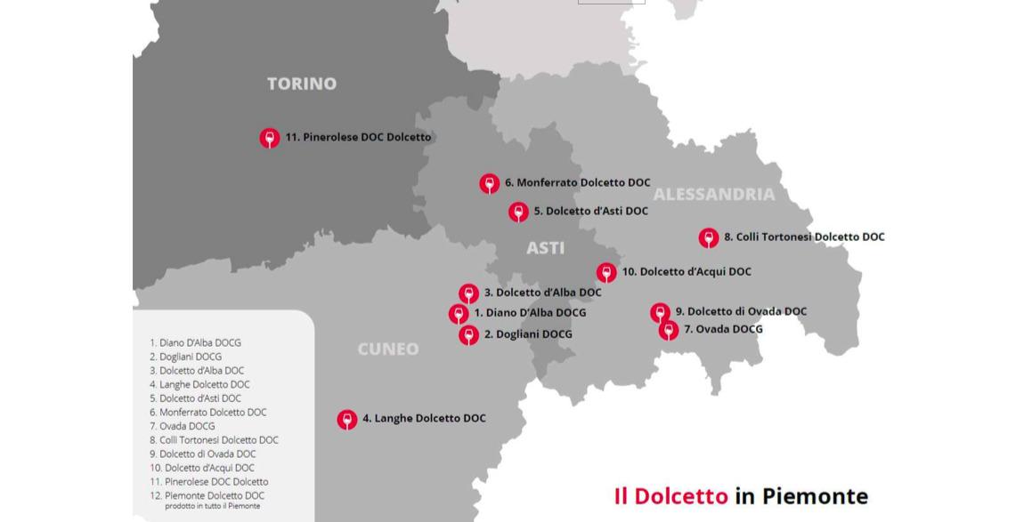 Denominazioni Dolcetto in Piemonte