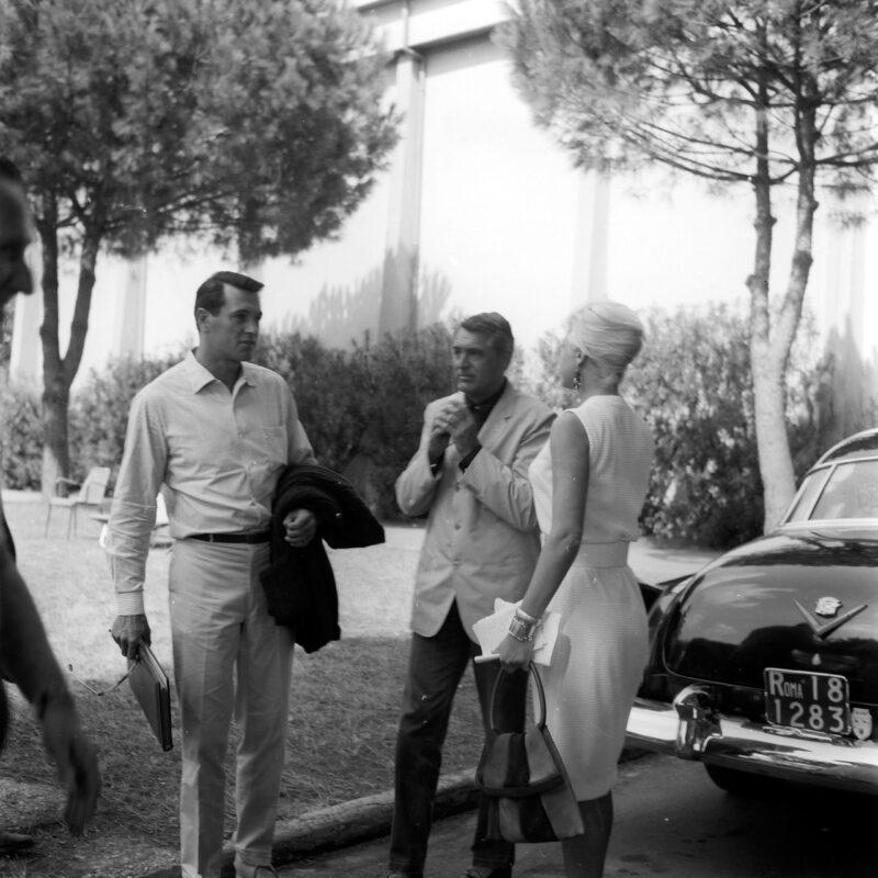 Cary Grant e Rock Hudson a Cinecittà