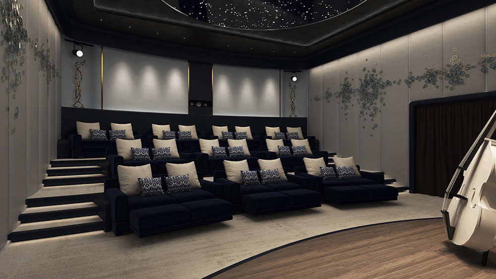 cinema Now superyacht di Piredda & Partners