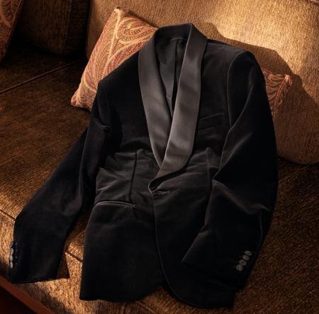 La giacca da sera in velluto della capsule BP Signature